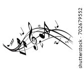 music notes | Shutterstock .eps vector #702679552
