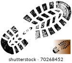 isolated mountain bootprint  ... | Shutterstock .eps vector #70268452