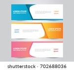 set of  vector design banner... | Shutterstock .eps vector #702688036