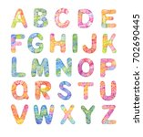 decorative color alphabet  hand ... | Shutterstock . vector #702690445