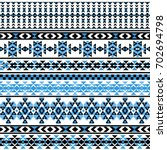 ethnic seamless pattern with... | Shutterstock .eps vector #702694798