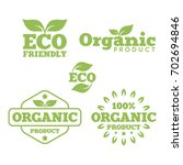 set of green labels and badges... | Shutterstock .eps vector #702694846