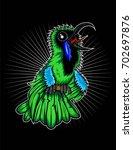 green leaf bird | Shutterstock .eps vector #702697876