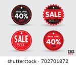 set of sale tags with. vector... | Shutterstock .eps vector #702701872