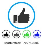 thumb up rounded icon. vector... | Shutterstock .eps vector #702710806