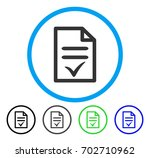valid document rounded icon.... | Shutterstock .eps vector #702710962