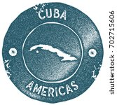 cuba map vintage stamp. retro... | Shutterstock .eps vector #702715606