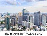 bangkok city skyline aerial... | Shutterstock . vector #702716272