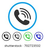 phone call rounded icon. vector ... | Shutterstock .eps vector #702723532