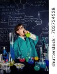 the boy scientist is going to... | Shutterstock . vector #702724528
