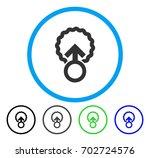 ovum penetration rounded icon....   Shutterstock .eps vector #702724576