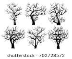 vector set  silhouettes of... | Shutterstock .eps vector #702728572