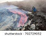 Small photo of Effusive Activity at Mount Etna Volcano