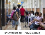 hospital outpatient  waiting to ... | Shutterstock . vector #702732835