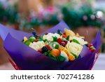 carved vfruit bouquet  original ... | Shutterstock . vector #702741286