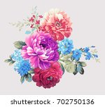 Stock photo blooming flowers the leaves and flowers art design 702750136