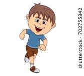a boy running cartoon vector...   Shutterstock .eps vector #702755842