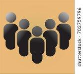 five people vector icons | Shutterstock .eps vector #702759796