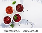 Bowls Of Various Tomato Sauces...