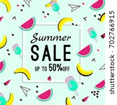 vector of bright summer cards.... | Shutterstock .eps vector #702766915