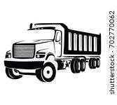 truck cargo vector. big truck... | Shutterstock .eps vector #702770062
