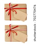 set of gift boxes with ribbon... | Shutterstock . vector #702770476