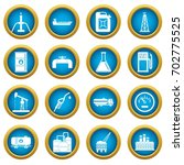 nature items icons blue circle... | Shutterstock .eps vector #702775525