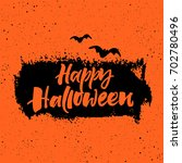 happy halloween greeting card | Shutterstock .eps vector #702780496