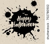 happy halloween greeting card | Shutterstock .eps vector #702780502