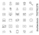 user interface line icons | Shutterstock .eps vector #702781378