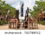 the equator monument     north... | Shutterstock . vector #702788512