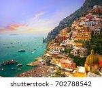 positano  amalfi  italy   Shutterstock . vector #702788542