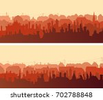 set of horizontal wide banners... | Shutterstock .eps vector #702788848