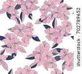 flowers pattern  background... | Shutterstock .eps vector #702789652