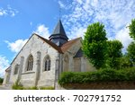 saint redegund church at... | Shutterstock . vector #702791752