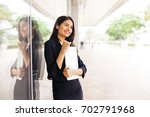 a beautiful professional indian ... | Shutterstock . vector #702791968