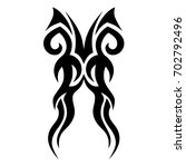 tattoo tribal vector design.... | Shutterstock .eps vector #702792496