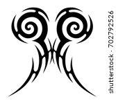 tribal tattoo art designs.... | Shutterstock .eps vector #702792526