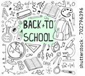 back to school sketchy... | Shutterstock .eps vector #702796396