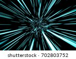 abstract hyper jump in space 3d ... | Shutterstock . vector #702803752