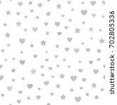 gray heart  star pattern.... | Shutterstock .eps vector #702805336