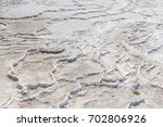 Surface Of  White Travertines...