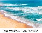 wave and ocean of great ocean... | Shutterstock . vector #702809182