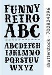 vector funny vintage uppercase... | Shutterstock .eps vector #702824296