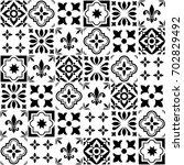 geometric vector tile design ... | Shutterstock .eps vector #702829492