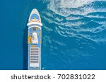 part of a cruise liner in the... | Shutterstock . vector #702831022