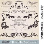 vector set  calligraphic design ... | Shutterstock .eps vector #70283149