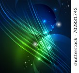 glowing futuristic lines in the ... | Shutterstock .eps vector #702831742