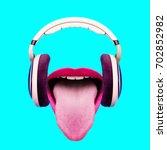 listen to funny music.... | Shutterstock . vector #702852982