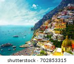 positano amalfi  italy | Shutterstock . vector #702853315